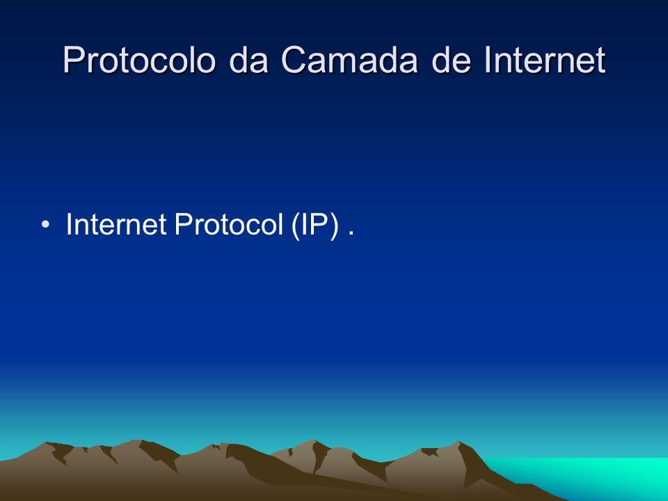 Protocolo da Camada de Internet Internet Protocol (IP).