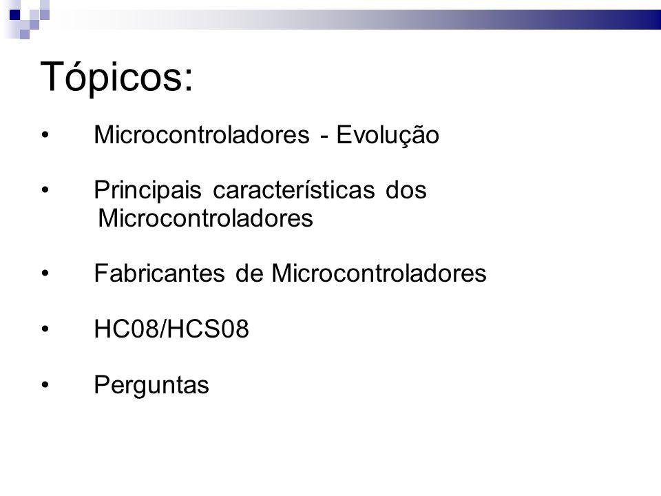 HC08/HCS08 (Diagrama de Blocos) HC08 HCS08