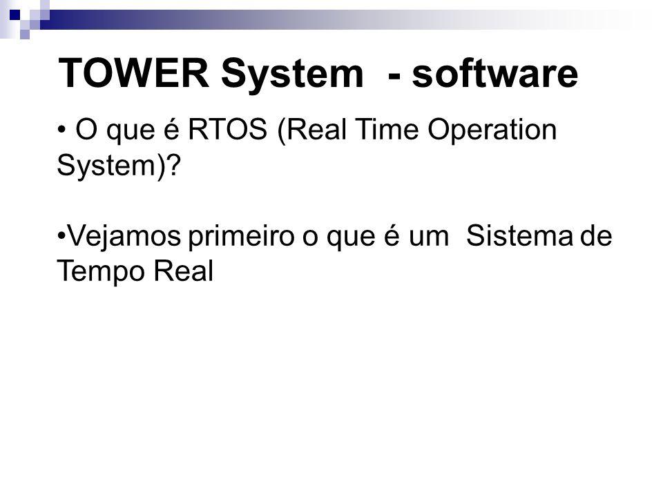 TOWER System - software O que é RTOS (Real Time Operation System)? Vejamos primeiro o que é um Sistema de Tempo Real
