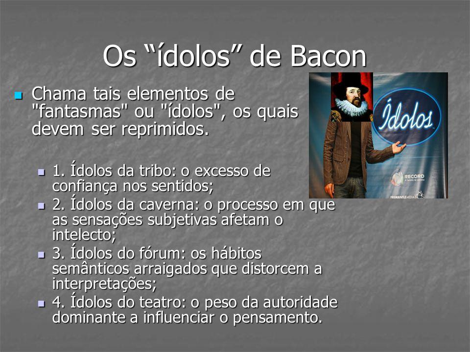 Os ídolos de Bacon Chama tais elementos de