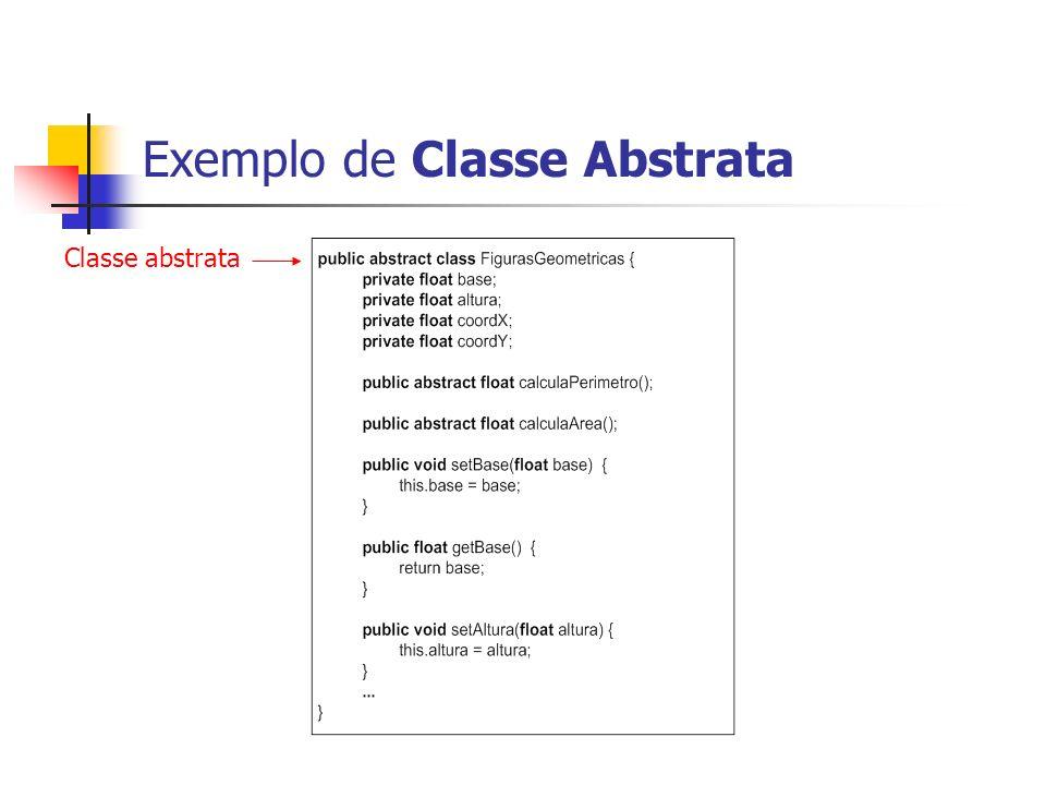 Exemplo de Classe Abstrata Classe abstrata