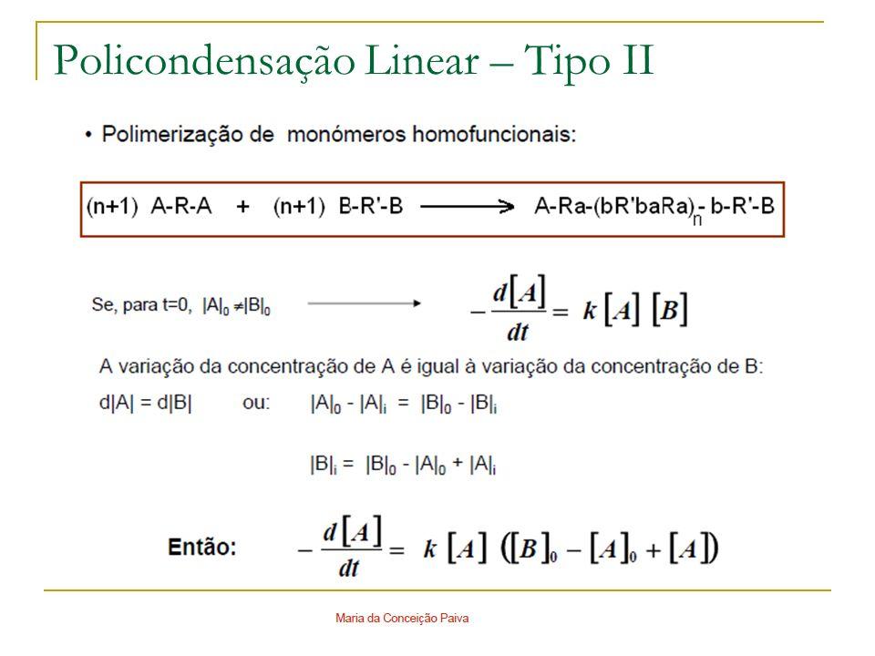 Policondensação Linear – Tipo II