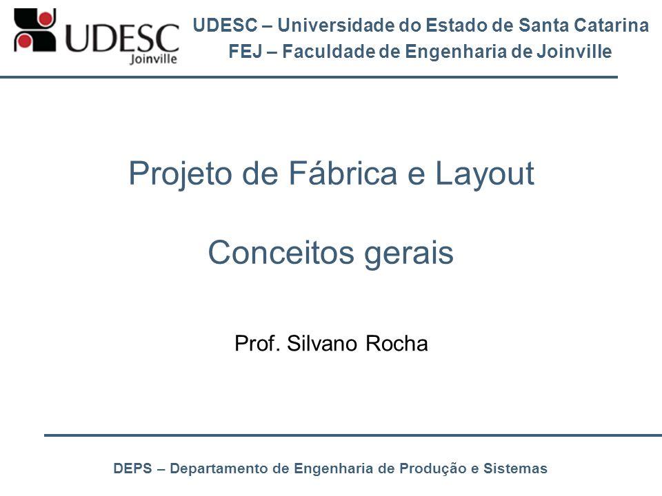 UDESC – Universidade do Estado de Santa Catarina FEJ – Faculdade de Engenharia de Joinville DEPS – Departamento de Engenharia de Produção e Sistemas P