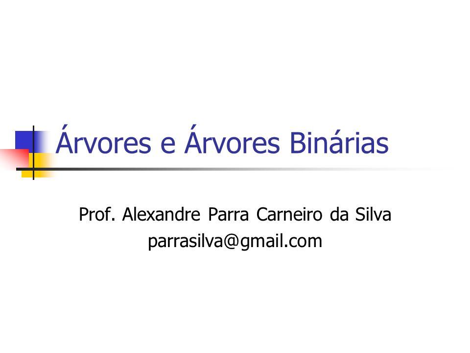 Árvores e Árvores Binárias Prof. Alexandre Parra Carneiro da Silva parrasilva@gmail.com