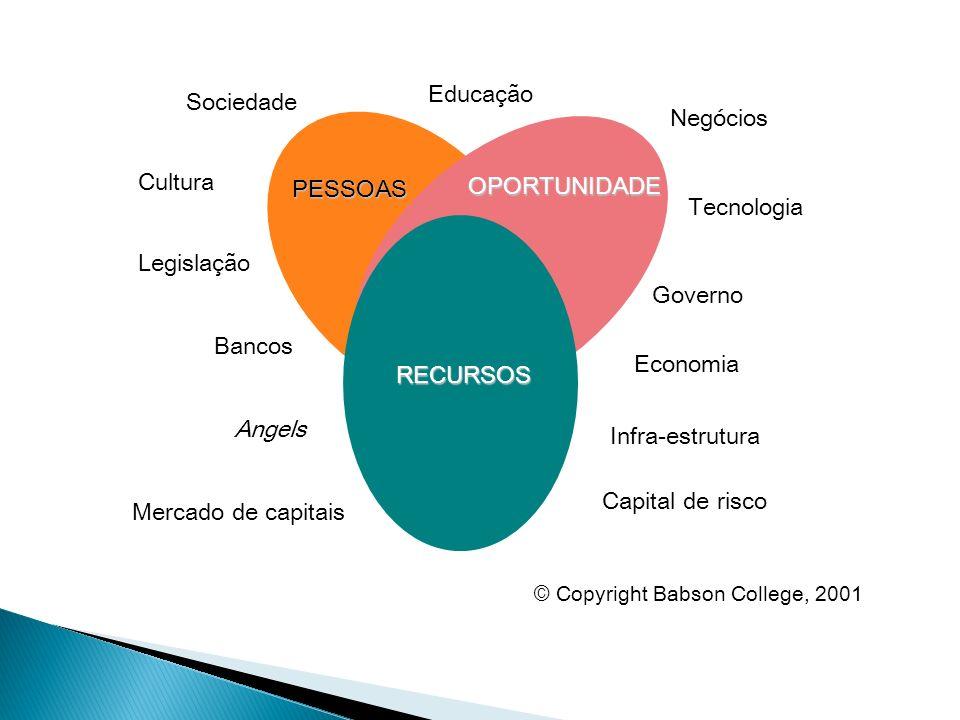PESSOAS OPORTUNIDADE RECURSOS Sociedade Governo Cultura Economia Legislação Negócios Tecnologia Educação Bancos Angels Capital de risco Infra-estrutur