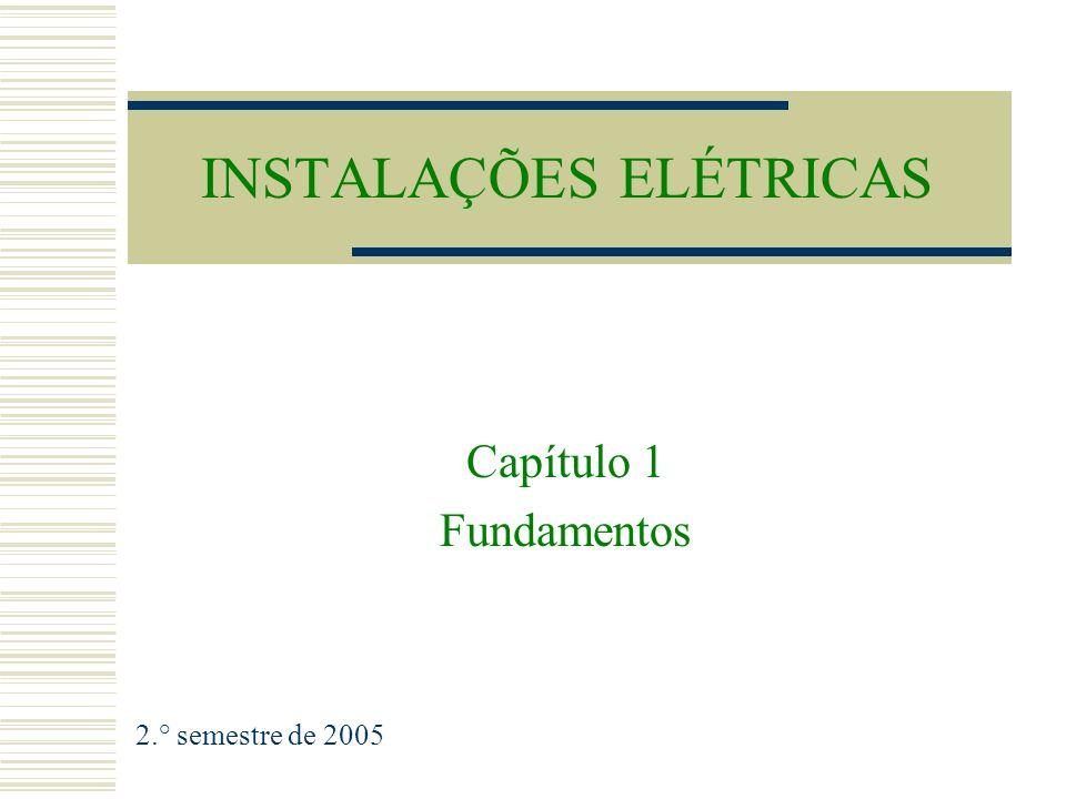 INSTALAÇÕES ELÉTRICAS Capítulo 1 Fundamentos 2.° semestre de 2005