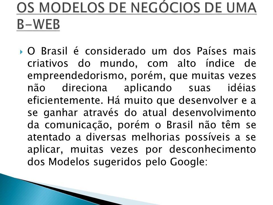 O Brasil é considerado um dos Países mais criativos do mundo, com alto índice de empreendedorismo, porém, que muitas vezes não direciona aplicando sua