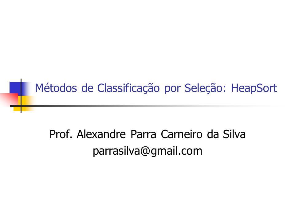 Métodos de Classificação por Seleção: HeapSort Prof. Alexandre Parra Carneiro da Silva parrasilva@gmail.com