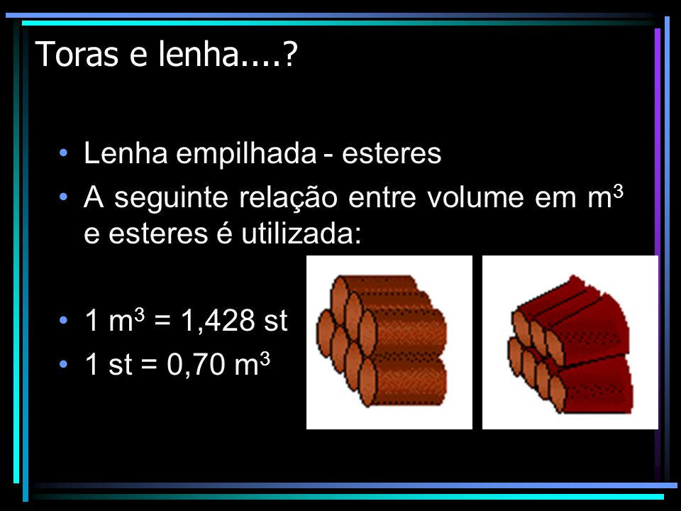 TERMOS TÉCNICOS E SUAS ABREVIATURAS Diâmetro – dimensão do diâmetro do tronco ou de árvores.