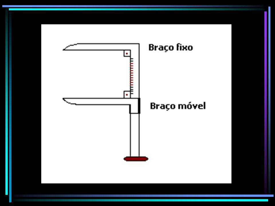 Aspectos importantes a serem observados para medições corretas : A régua graduada deve ser reta e firme, A escala deve ser bem visível Os braços devem ser paralelos e estarem no mesmo plano longitudinal.