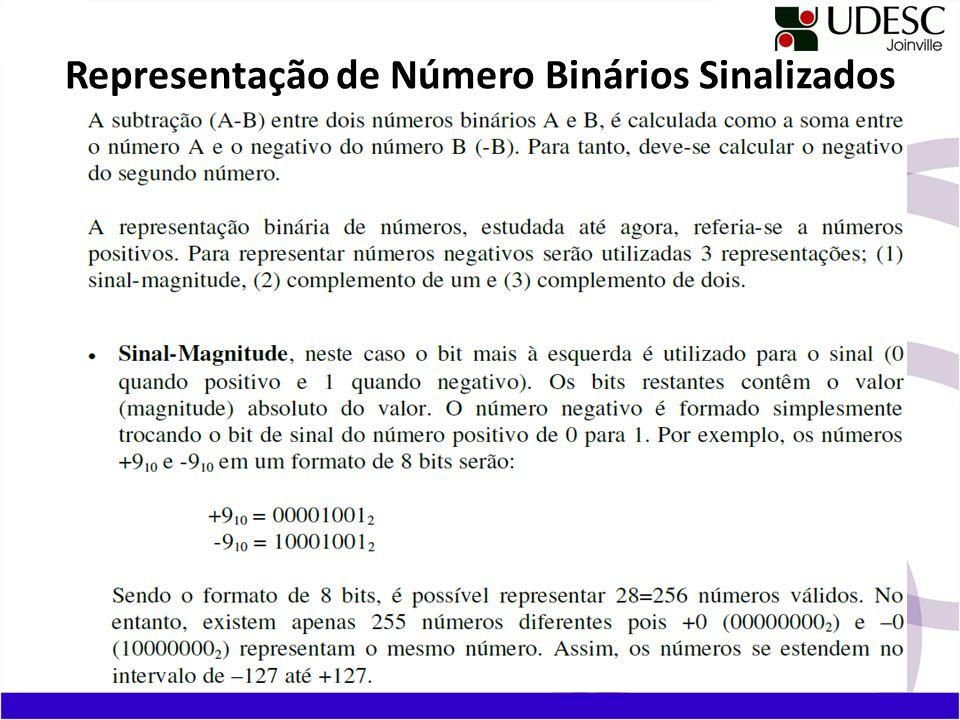 Representação de Número Binários Sinalizados