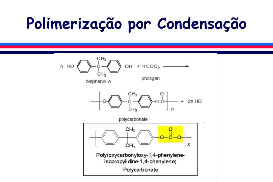 Polimerização por Adição l As reações de adição são aquelas que formam polímeros com unidades repetitivas de fórmula molecular idêntica aos monômeros.