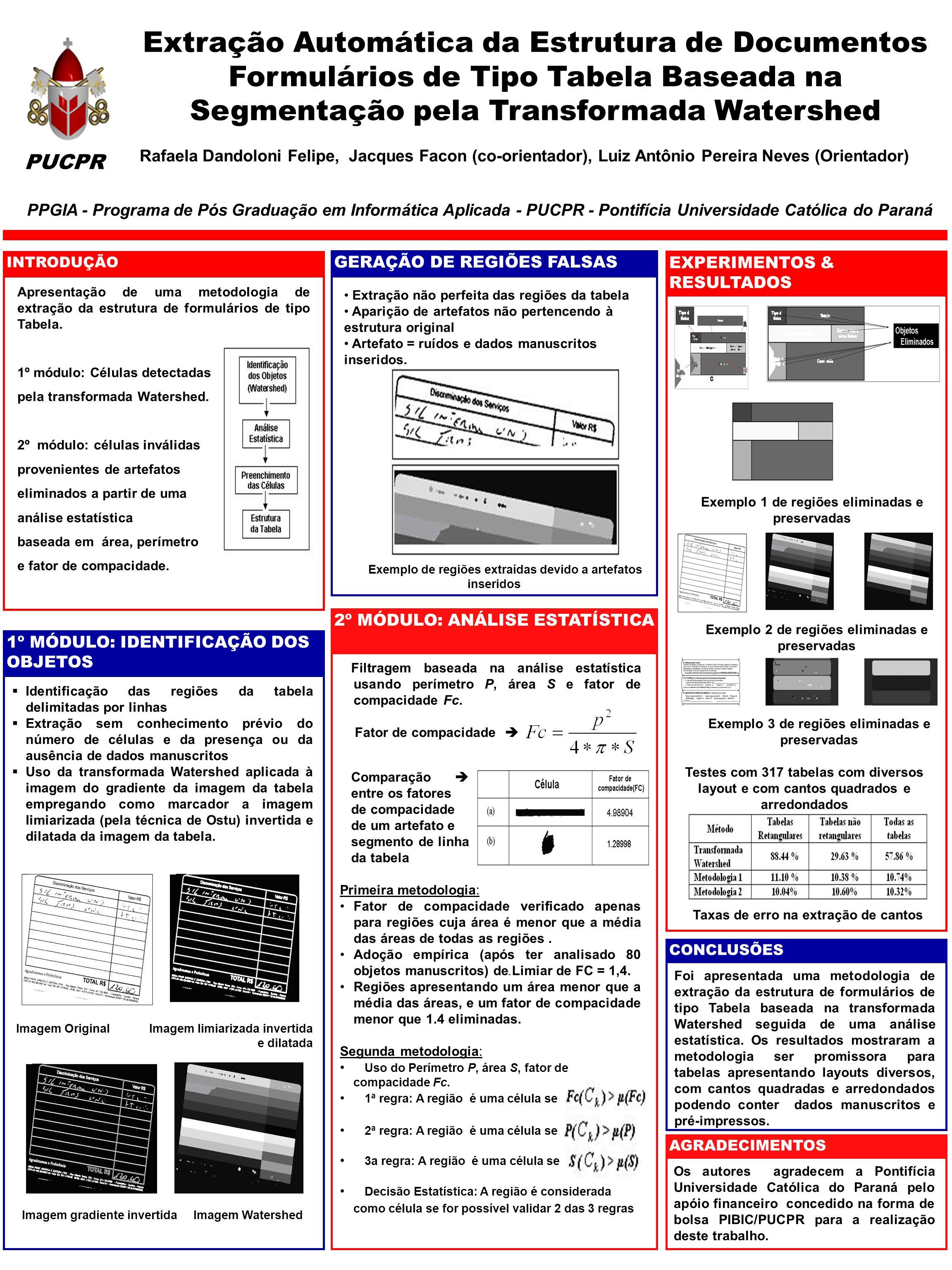 Apresentação de uma metodologia de extração da estrutura de formulários de tipo Tabela.