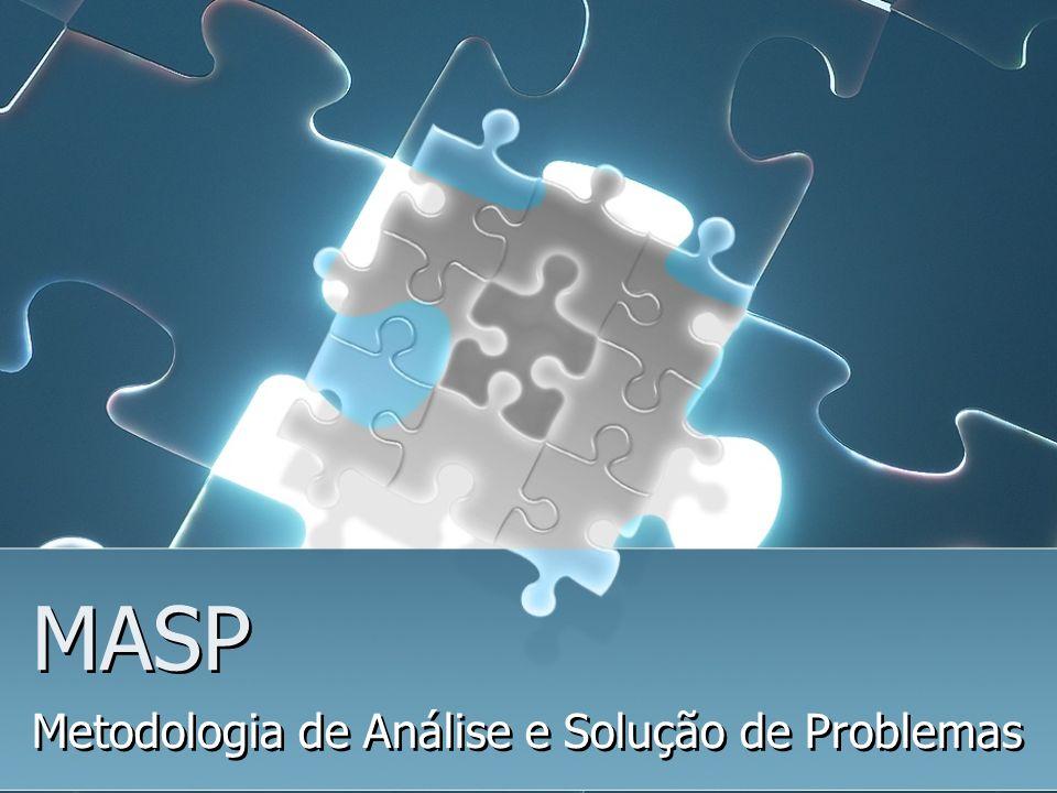 MASP Metodologia de Análise e Solução de Problemas Metodologia de Análise e Solução de Problemas
