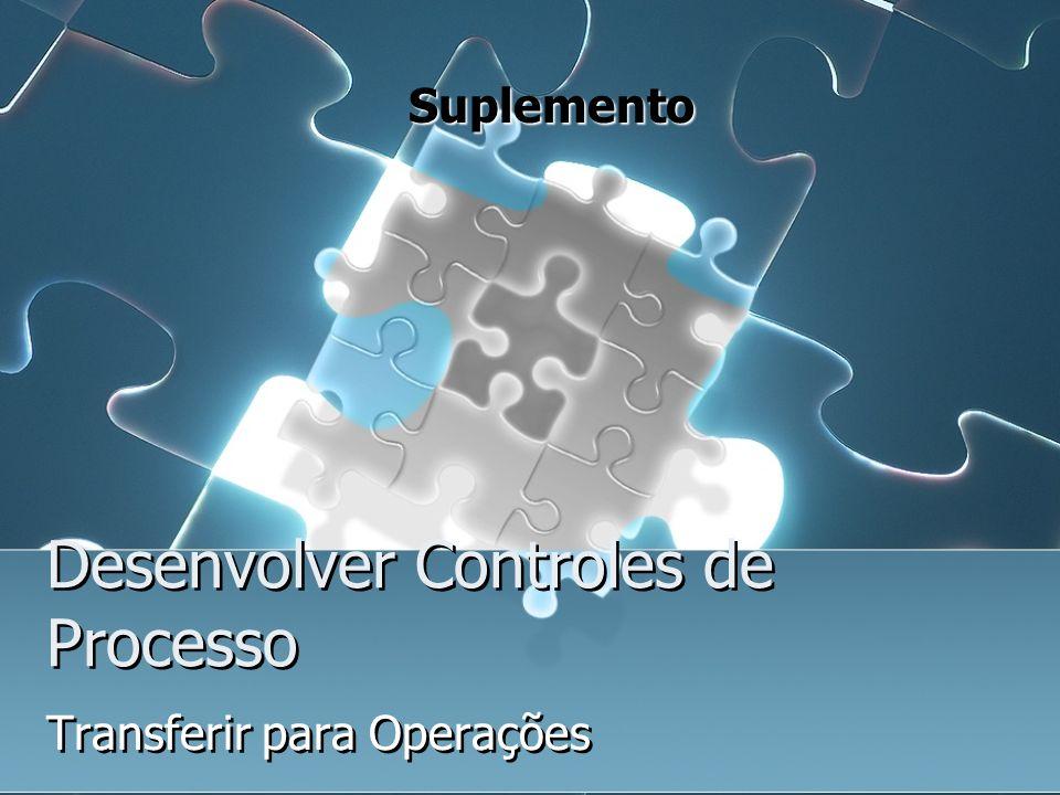 Desenvolver Controles de Processo Transferir para Operações Suplemento