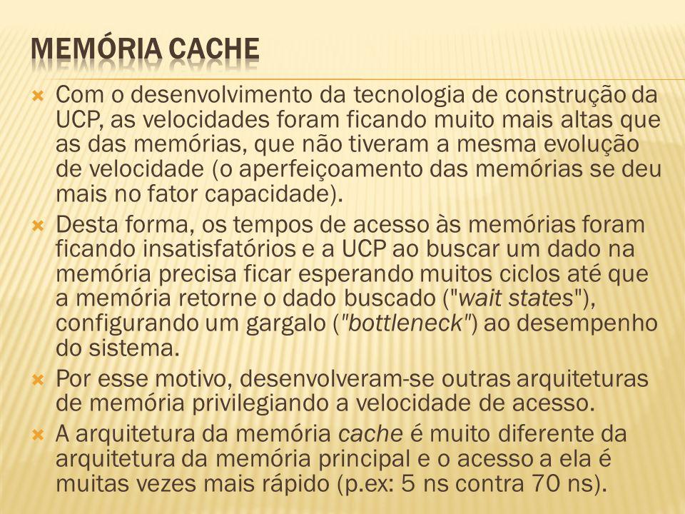 Com o desenvolvimento da tecnologia de construção da UCP, as velocidades foram ficando muito mais altas que as das memórias, que não tiveram a mesma e
