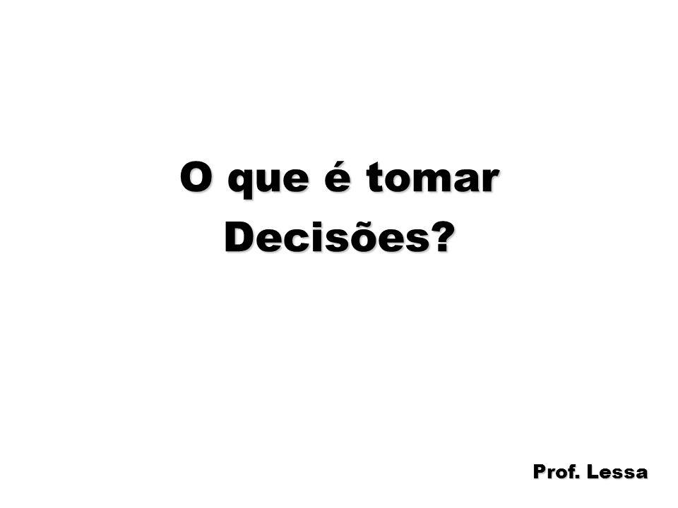 22 O que é tomar Decisões? Prof. Lessa