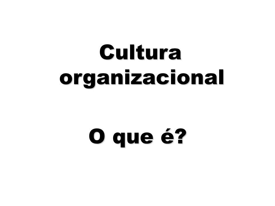 4 Cultura organizacional Cultura organizacional O que é?