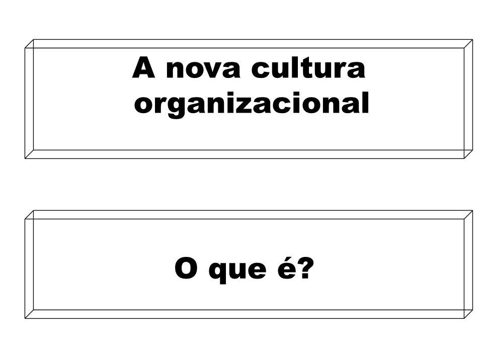 9 A nova cultura organizacional A nova cultura organizacional O que é?