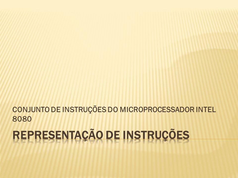 CONJUNTO DE INSTRUÇÕES DO MICROPROCESSADOR INTEL 8080