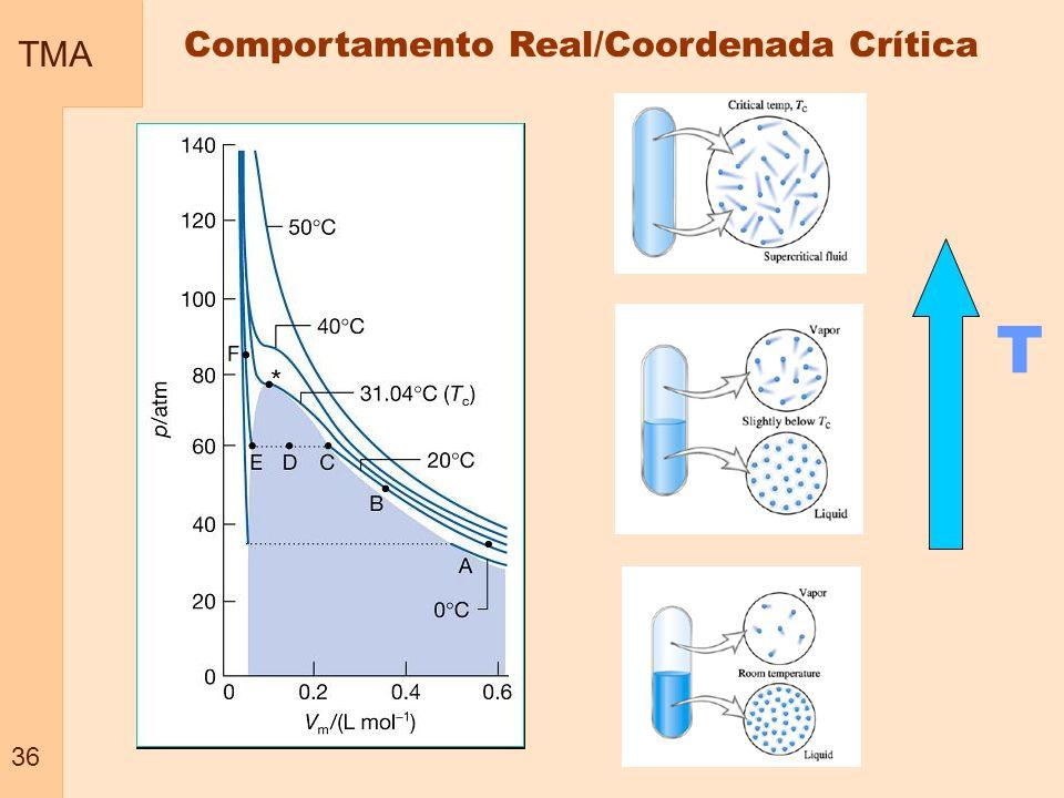 TMA 36 Comportamento Real/Coordenada Crítica T