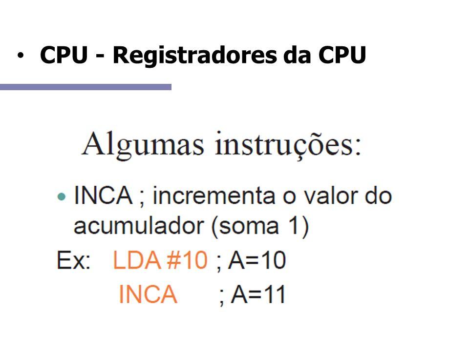 CPU - Registradores da CPU