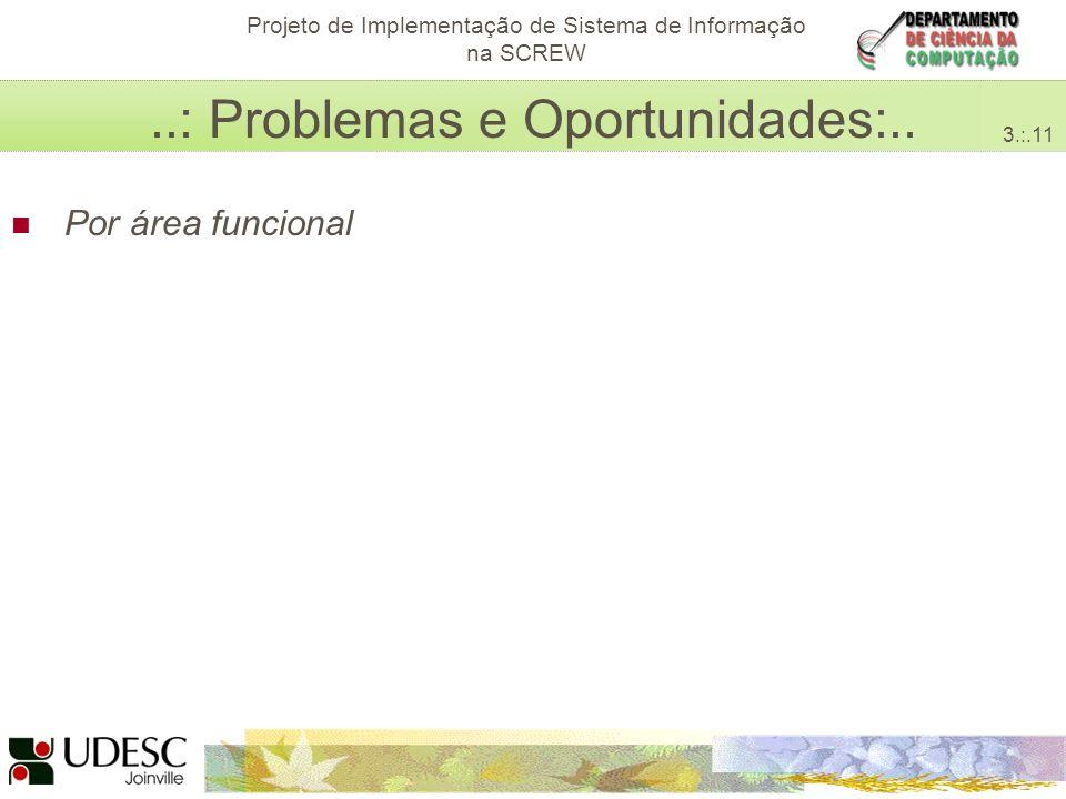 Avaliação da Categoria Acessibilidade do Sistema Interativo de Avaliação para Ambientes E-learning Projeto de Implementação de Sistema de Informação na SCREW..: Problemas e Oportunidades:..