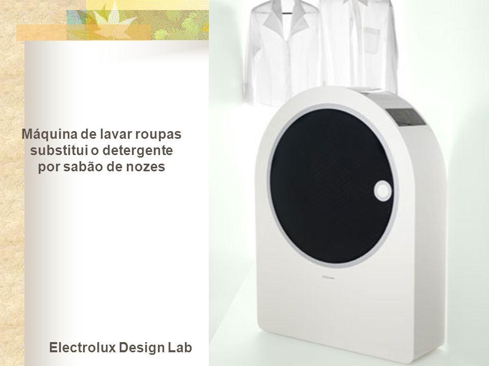 Máquina de lavar roupas substitui o detergente por sabão de nozes Electrolux Design Lab
