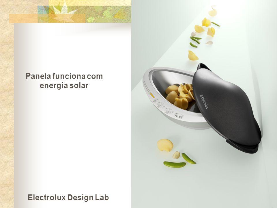 Panela funciona com energia solar Electrolux Design Lab