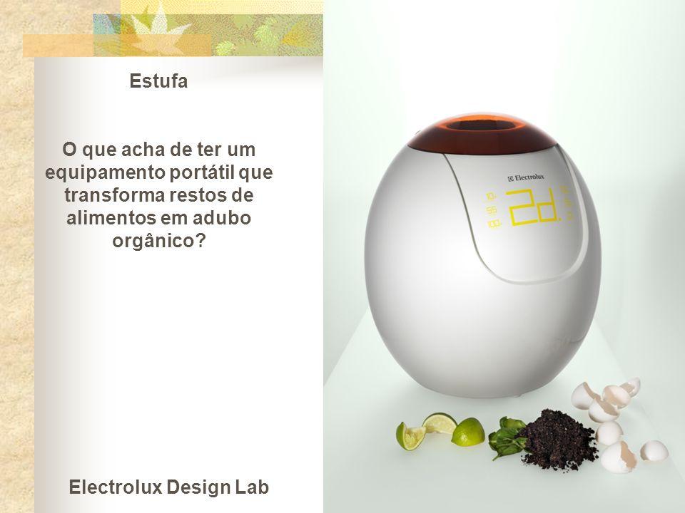 Estufa O que acha de ter um equipamento portátil que transforma restos de alimentos em adubo orgânico? Electrolux Design Lab