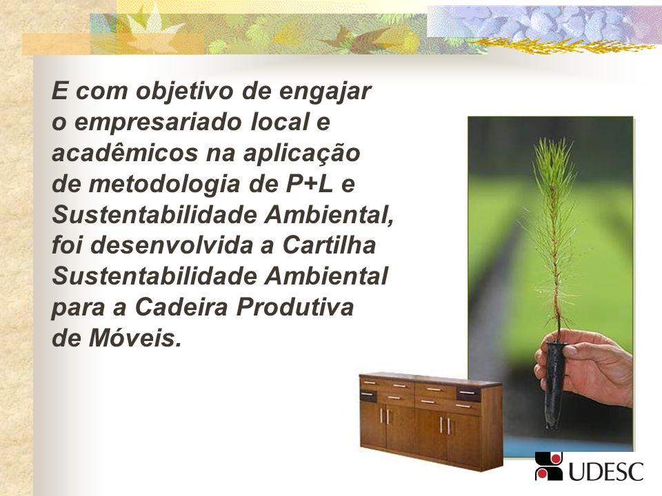 E com objetivo de engajar o empresariado local e acadêmicos na aplicação de metodologia de P+L e Sustentabilidade Ambiental, foi desenvolvida a Cartil