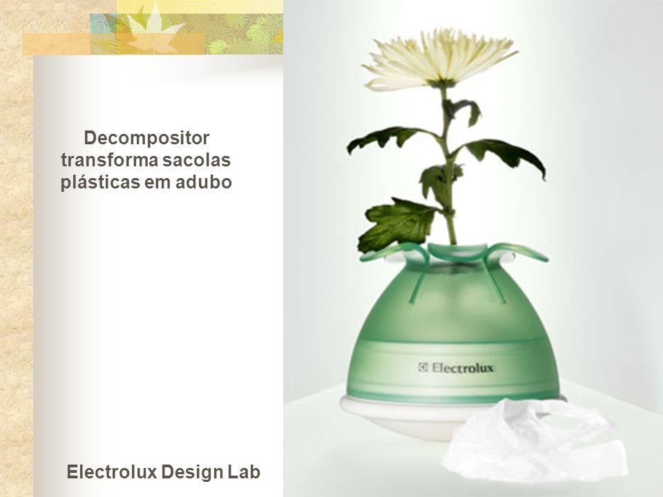 Decompositor transforma sacolas plásticas em adubo Electrolux Design Lab