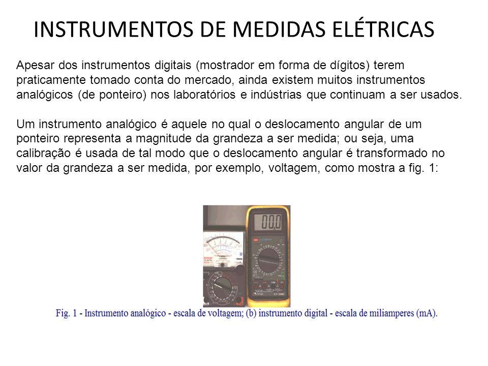 Apesar dos instrumentos digitais (mostrador em forma de dígitos) terem praticamente tomado conta do mercado, ainda existem muitos instrumentos analógi