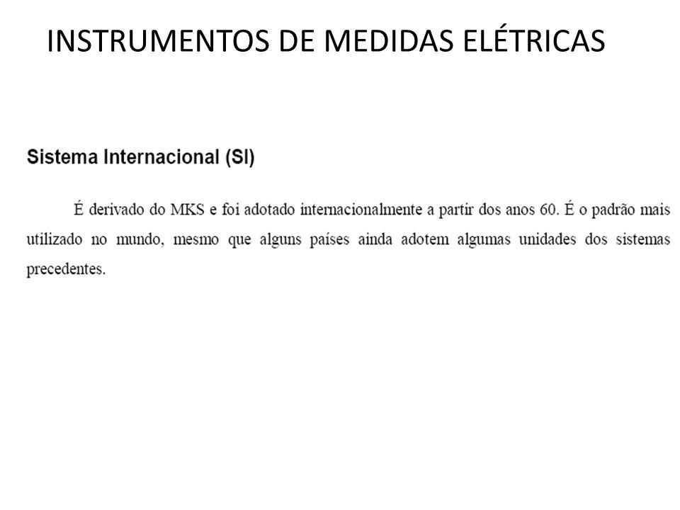 INSTRUMENTOS DE MEDIDAS ELÉTRICAS O princípio de funcionamento do instrumento tipo ferro móvel está mostrado na fig.
