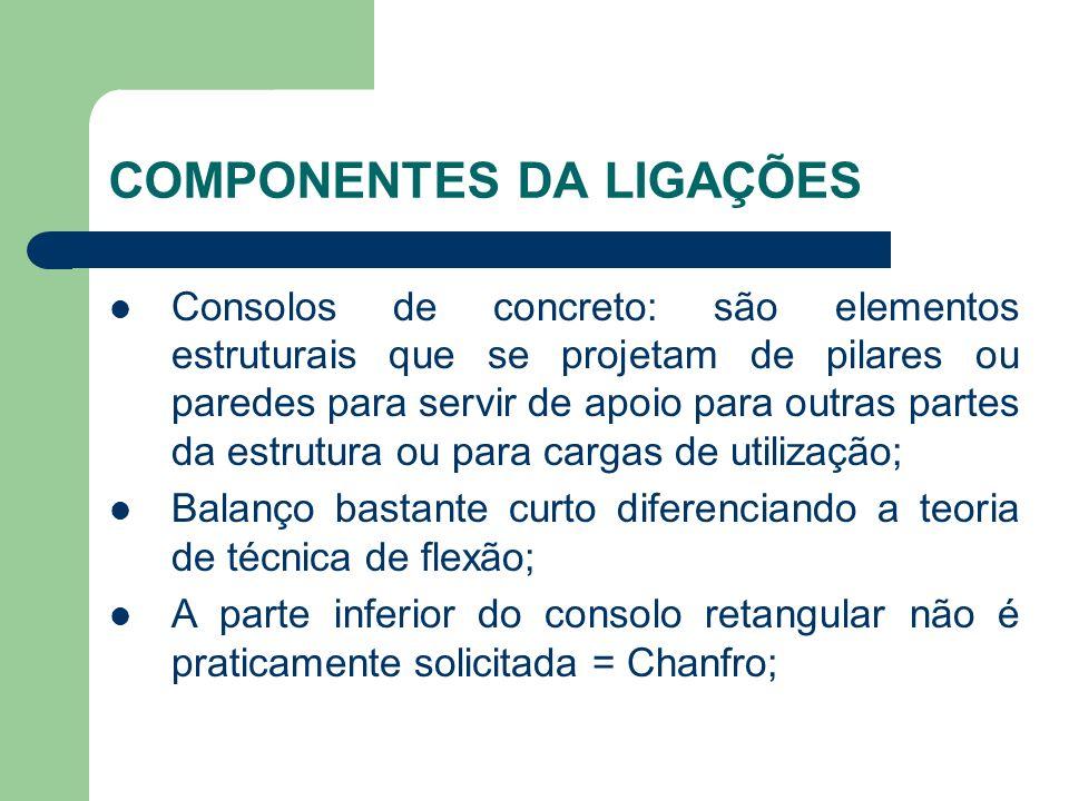 Consolos de concreto: são elementos estruturais que se projetam de pilares ou paredes para servir de apoio para outras partes da estrutura ou para car