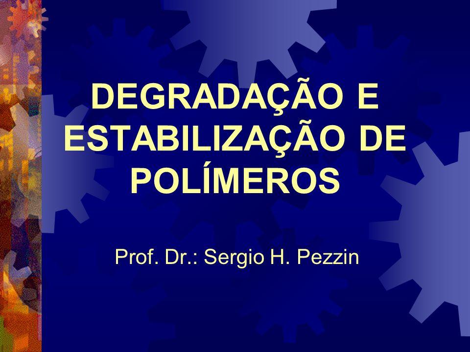 DEGRADAÇÃO E ESTABILIZAÇÃO DE POLÍMEROS Prof. Dr.: Sergio H. Pezzin