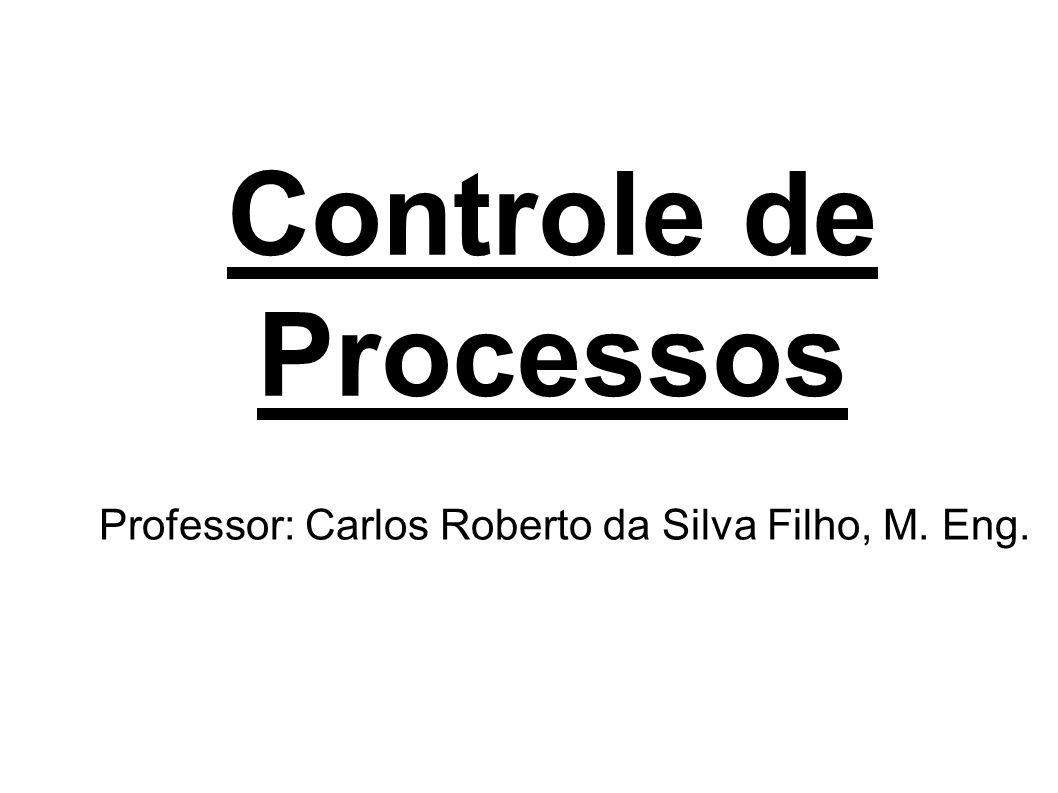 Controle de Processos Professor: Carlos Roberto da Silva Filho, M. Eng.