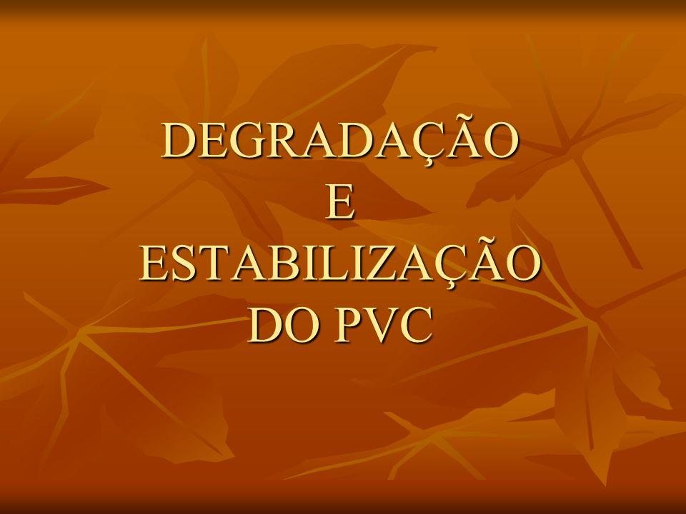 DEGRADAÇÃO E ESTABILIZAÇÃO DO PVC