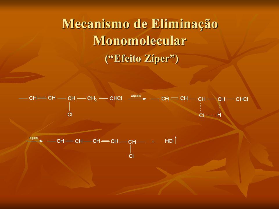 Mecanismo de Eliminação Monomolecular (Efeito Zíper)
