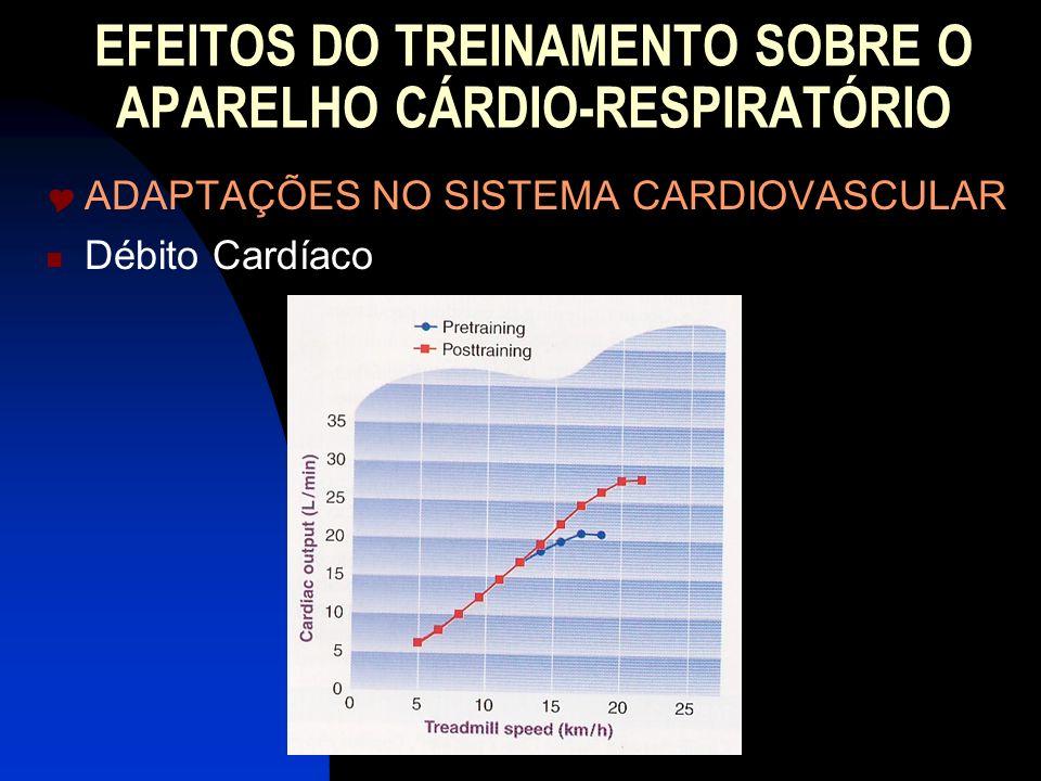 EFEITOS DO TREINAMENTO SOBRE O APARELHO CÁRDIO-RESPIRATÓRIO ADAPTAÇÕES NO SISTEMA CARDIOVASCULAR Débito Cardíaco