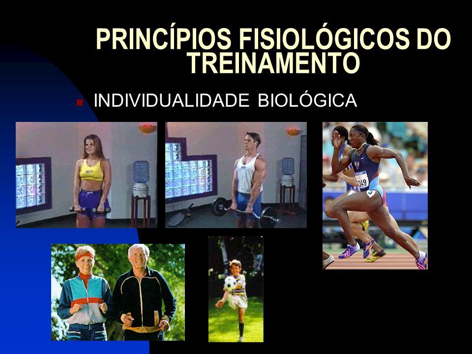 PRINCÍPIOS FISIOLÓGICOS DO TREINAMENTO INDIVIDUALIDADE BIOLÓGICA