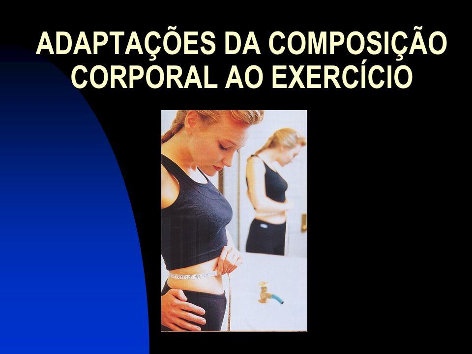 ADAPTAÇÕES DA COMPOSIÇÃO CORPORAL AO EXERCÍCIO