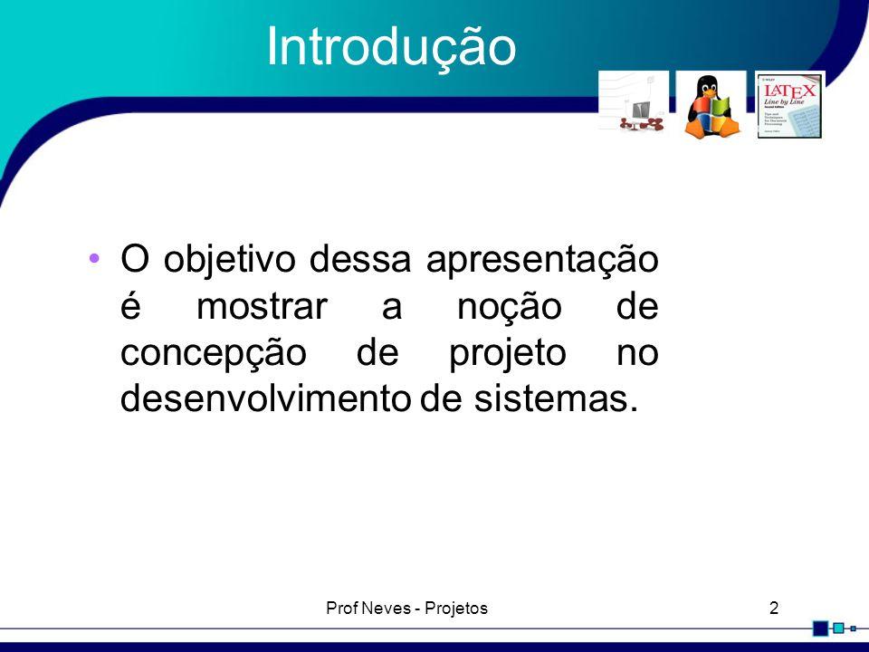 Prof Neves - Projetos13 Modelagem