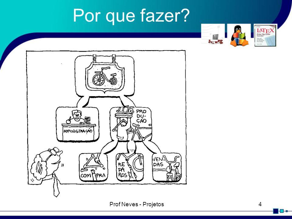 Prof Neves - Projetos15 Conclusão Faça um bom levantamento de dados, pois é o mais importante.