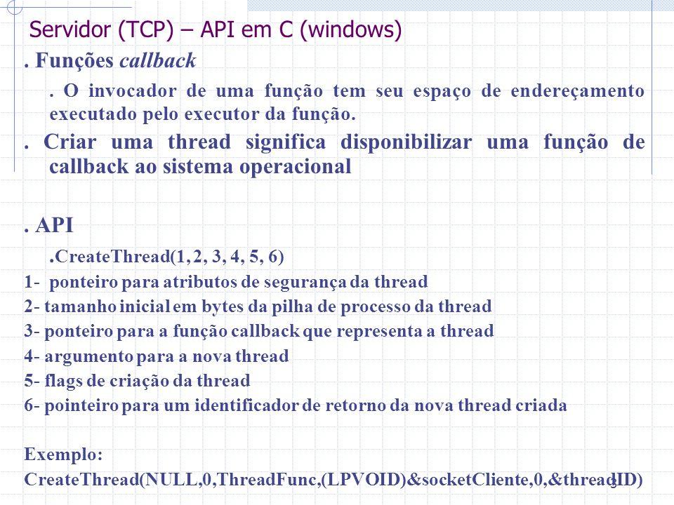 4. Exemplo. Ajuda – página (ajuda_sockets.hlp) Considerações