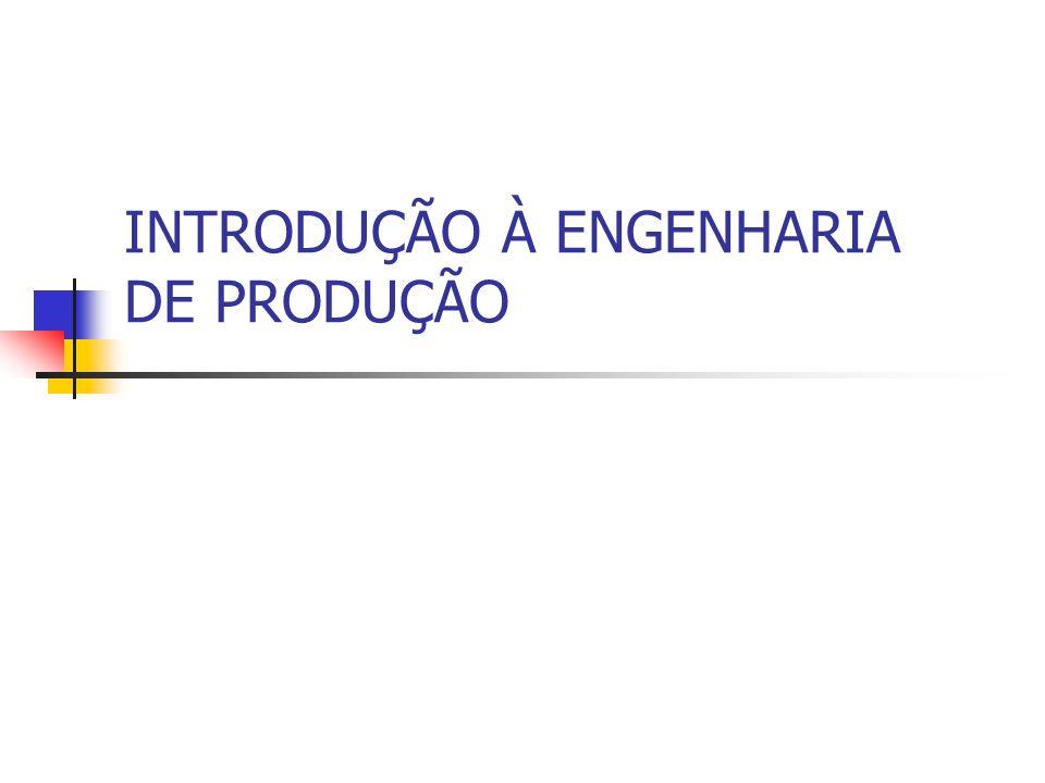 ENGENHARIA DE PRODUÇÃO- DEFINIÇÃO A Engenharia de Produção trata do projeto, aperfeiçoamento e implantação de sistemas integrados de pessoas, materiais, informações, equipamentos e energia, para a a produção de bens e serviços, de maneira econômica, respeitando os preceitos éticos e culturais.