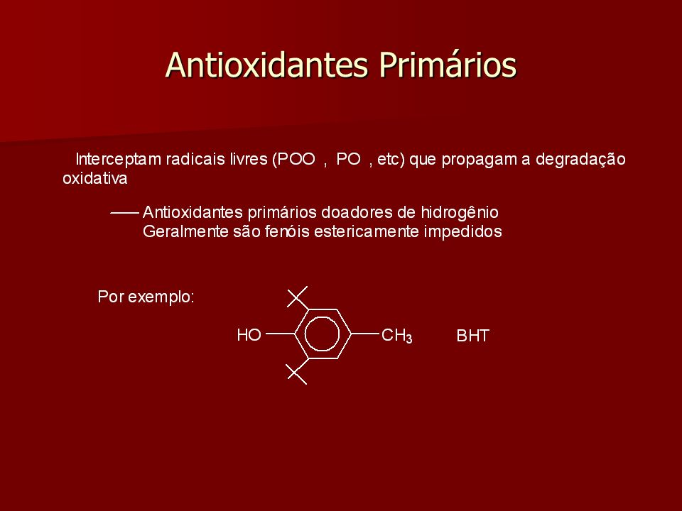 Decompositores de hidroperóxidos (Antioxidantes secundários)