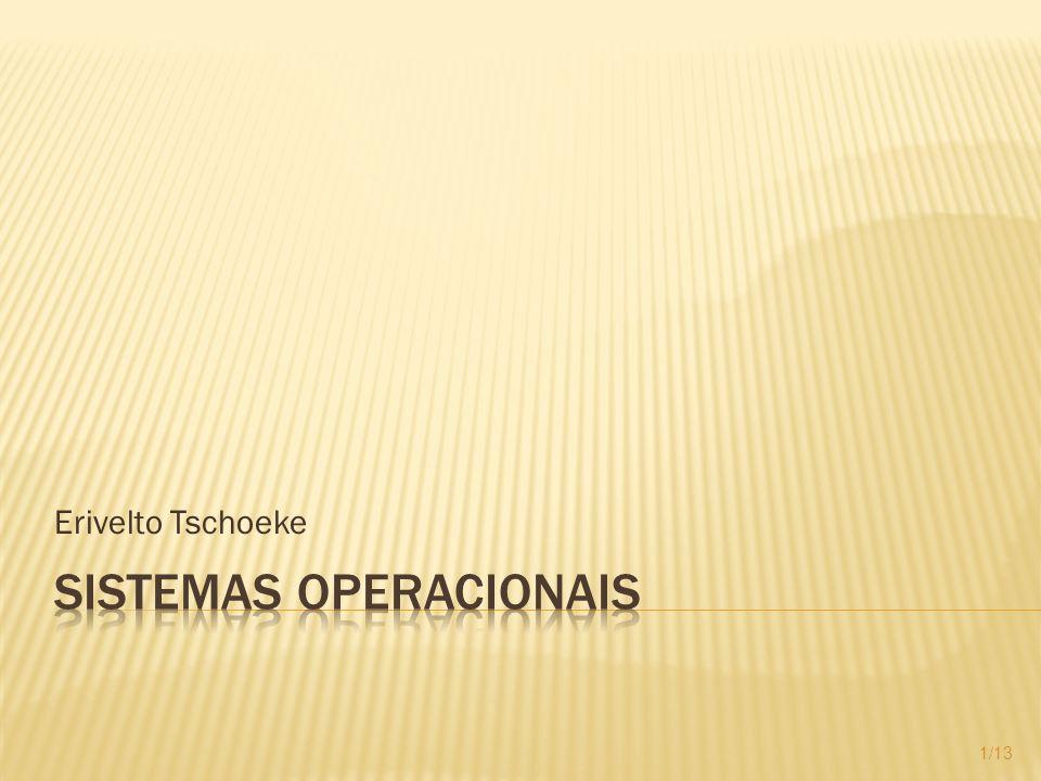 Estrutura de um sistema operacional Componentes Uso e importância Programas Utilitários 2/13