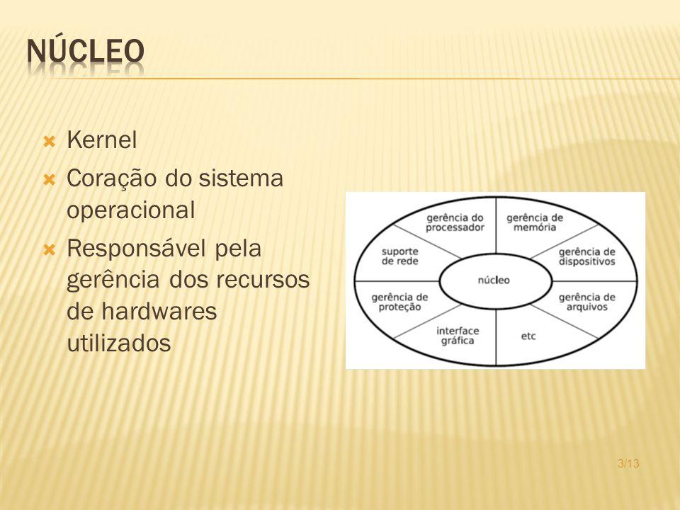 Códigos específicos Acesso dispositivos físicos Normalmente fornecido pelo fabricante do hardware Forma binária Acoplado ao sistema operacional 4/13