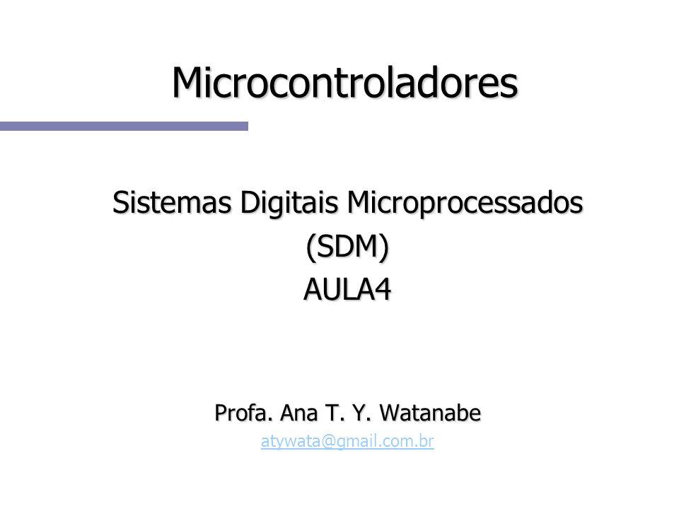 Microcontroladores Sistemas Digitais Microprocessados (SDM)AULA4 Profa.